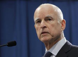 Gov. Jerry Brown speaks at a news conference in Sacramento, Calif., in November.