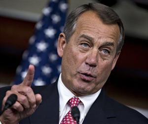 House Speaker John Boehner of Ohio gestures during a news conference on Capitol Hill, Dec. 13, 2012.
