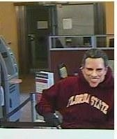 The Loudoun County Sheriff's Office released this image of a suspect in the Dec. 13, 2012, robbery of a Wells Fargo bank in Sterling, Va.