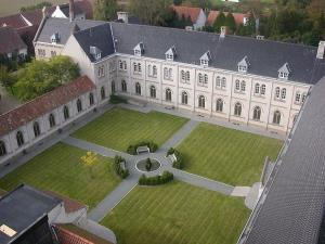 An aerial view of St. Sixtus Abbey.