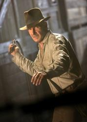 In this file image released by Paramount Pictures, Harrison Ford is shown in a scene from the film, Indiana Jones and the Kingdom of the Crystal Skull.