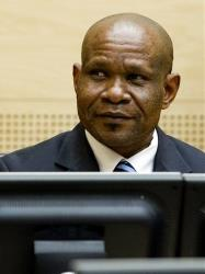 Former leader of the National Integrationist Front Mathieu Ngudjolo awaits his verdict at the International Criminal Court (ICC) in the Hague, Netherlands, Tuesday, Dec. 18, 2012.