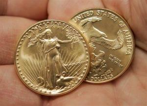 These are gold coins, but not the gold coins in question.