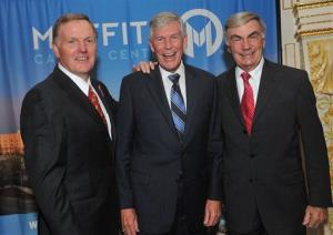 Football Hall of Famer Bob Griese, left, former U.S. Senator Connie Mack, center, and veteran ABC News anchor Sam Donaldson attend a cancer awareness event in 2011.
