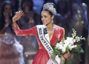 Miss USA, Olivia Culpo, waves to the crowd after being crowned as Miss Universe during the Miss Universe competition, Wednesday, Dec. 19, 2012, in Las Vegas.