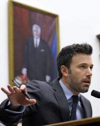 Ben Affleck testifies before the House Armed Services Committee on the evolving security situation in the Democratic Republic of the Congo in Washington, Wednesday, Dec. 19, 2012.
