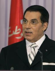 Tunisia's ousted leader, Zine El Abidine Ben Ali, in a 2008 file photo.