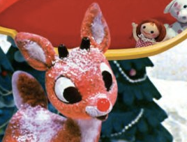 Rudolph is shown in a screenshot from Amazon.com.