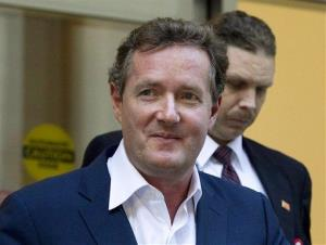 Piers Morgan leaves the CNN building in Los Angeles in this file photo.