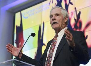 UN Foundation Founder and Chairman Ted Turner addresses the New African Connections conference hosted in Oslo, Norway, on June 21, 2011.