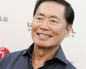Actor George Takei poses on the press line at the Universal Media Studios Emmy Party at the LG House  in Malibu, Calif. on Thursday, Aug. 2, 2007.