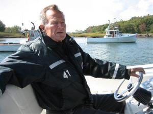 This undated image released by HBO shows former President George H.W. Bush in Kennebunkport, Maine.