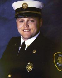 This undated image provided by the West Webster fire department shows firefighter Lt. Michael Chiapperini.