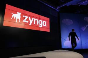 Zynga CEO Mark Pincus walks off the stage after an announcement at Zynga headquarters in San Francisco.