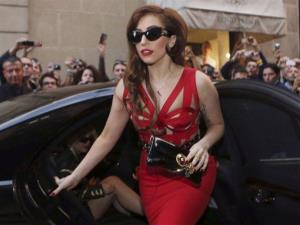 In this Monday, Oct. 1, 2012 file photo, Lady Gaga arrives at the Versace atelier in Milan, Italy.  L
