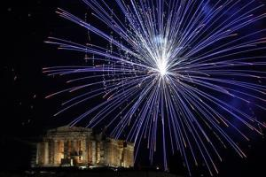 It was a tough 2012 for Greece, but the country could still afford a few fireworks.