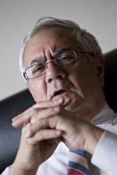 Barney Frank is seen during an interview in this file photo.