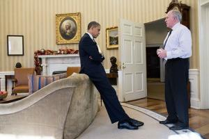 President Obama gets briefed on the Sandy Hook shootings by John Brennan. He would later call it the worst day of his presidency.