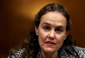 This 2010 file photo shows then-Defense Undersecretary for Policy Michele Flournoy testifying on Capitol Hill.