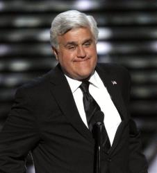 In this Wednesday, July 13, 2011 file photo, Jay Leno presents the Jimmy V Award for Perseverance at the ESPY Awards  in Los Angeles.
