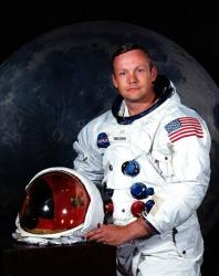 This undated file photo provided by NASA shows Neil Armstrong.