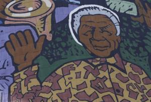 A giant portrait of former president Nelson Mandela adorns a cooling tower of a now defunct power station in Soweto, South Africa, Monday, Dec 31, 2012. Mandela is recovering at his Johannesburg home since being hopitalized for a lung infection and undergoing gallstone surgery.