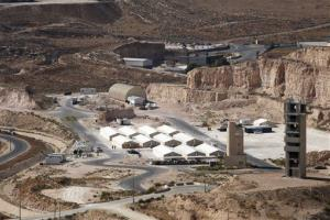 In this Oct. 11, 2012 file photo, a view of hangars at a desert military training facility where US forces and a handful of British allies are training Jordanian commandos in Russeifeh, Jordan.