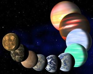 This artist rendering released Jan. 7, 2013, by Harvard-Smithsonian Center for Astrophysics shows the different types of planets in our Milky Way galaxy detected by NASA's Kepler spacecraft.