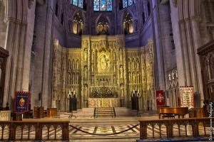 The main altar of the Washington National Cathedral.