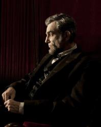 This publicity film image released by DreamWorks and Twentieth Century Fox shows Daniel Day-Lewis portraying Abraham Lincoln in the film Lincoln.