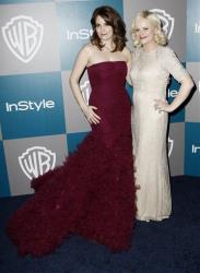 In this Jan. 15, 2012 file photo, Tina Fey, left, and Amy Poehler arrive at the 2012 Warner Bros. and InStyle Golden Globe After Party at the Beverly Hilton in Los Angeles.