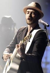 Musician Justin Timberlake performs during his Justin Timberlake and Friends concert benefiting Shriners Hospitals For Children at the Planet Hollywood hotel in Las Vegas on Friday, Oct. 17, 2008.