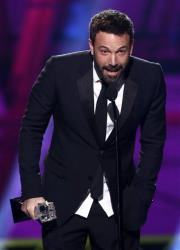 Ben Affleck accepts the award for best director for Argo at the 18th Annual Critics' Choice Movie Awards at the Barker Hangar on Thursday in Santa Monica, Calif.