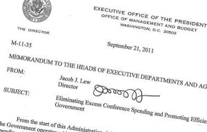 This Sept. 21, 2011, memo posted on the White House website shows then-Office of Management and Budget director Jack Lew's signature. Lew's nomination for treasury secretary means a new signature could soon be coming to the dollar bill. Not that you'll be able to read it. Lew's signature starts off...