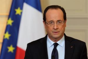 France's President Francois Hollande delivers a speech on the situation in Mali at the Elysee Palace in Paris, Friday, Jan. 11, 2013.