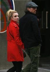 Britney Spears and Jason Trawick are seen in central Kiev, Ukraine, in 2011.