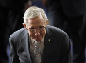 Senate Majority Leader Harry Reid walks out of the House Chamber on Capitol Hill on Jan. 4.