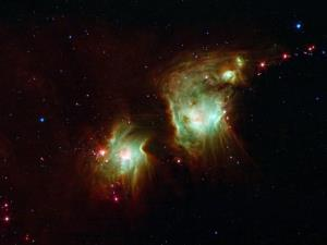 A star-forming region in deep space.