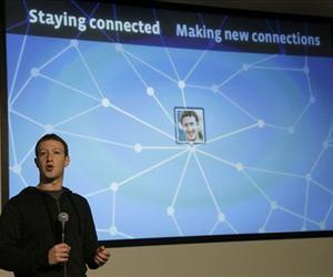 Mark Zuckerberg speaks about Facebook Graph Search at Facebook headquarters in Menlo Park, Calif., Tuesday, Jan. 15, 2013.
