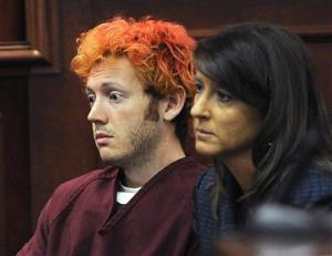 In this July 23 file photo, James Holmes appears in Arapahoe County District Court with defense attorney Tamara Brady in Centennial, Colo.