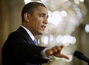 President Obama gesturing as he answers questions from members of the media during a news conference earlier this week.