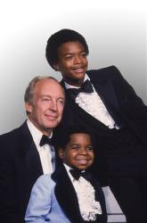 This 1981 file photo shows, clockwise from foreground, Gary Coleman, Conrad Bain and Todd Bridges at the Emmy Awards in Los Angeles.