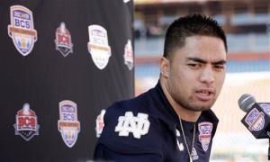 Notre Dame linebacker Manti Te'o.