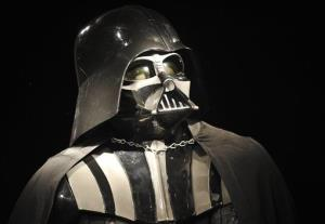 In this Oct. 27, 2010 file photo, a Darth Vader costume produced for the second Star Wars movie The Empire Strikes Back, released in 1980, is on display at Christie's auction house in London.