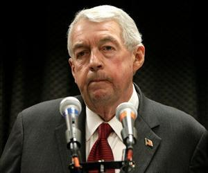Brooklyn District Attorney Charles Hynes appears at a press conference in New York, in this Dec. 9, 2008 file photo. Hynes' office has been repeatedly criticized for its methods.