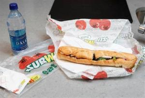 File photo of a Subway sandwich.