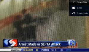 A screen grab from security footage, via 6ABC.