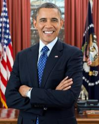 The president's official new portrait.