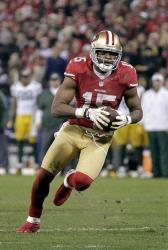 This photo taken Jan. 12 shows San Francisco 49ers wide receiver Michael Crabtree playing against Green Bay.