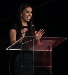 Eva Longoria delivers a keynote address at the Fourth Annual Latino Entrepreneur of the Year Awards in November.